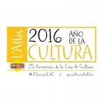 Logo de la casa de cultura de l'Alfàs del Pi. 25 aniversario Casa de Cultura