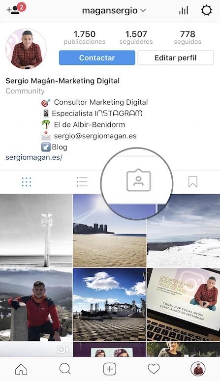 primer paso para desetiquetar una foto en instagram