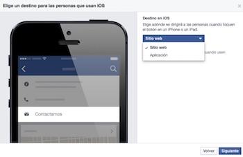 Boton de llamar a la accion en facebook