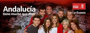 Cartel electoral Susana Diaz Psoe