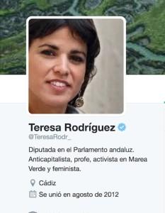 twitter Teresa Rodriguez Podemos
