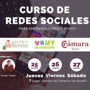 Curso de redes sociales en la camara de comercio de Teruel Alcañin