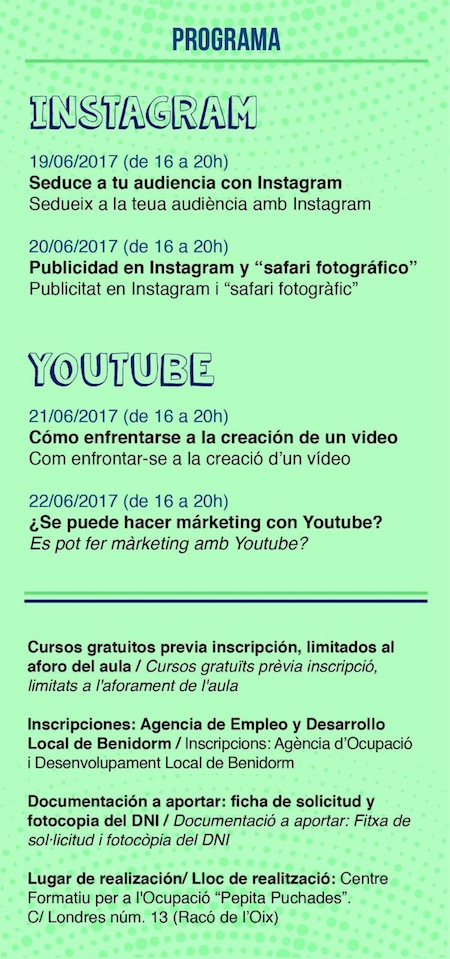 curso instagram y youtube