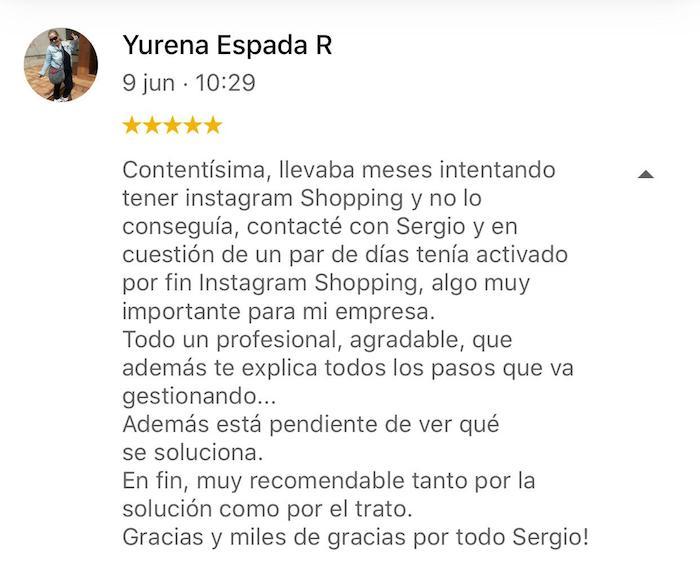 Instagram Shopping Denegado