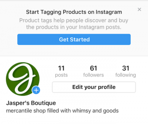 aviso Instagram, shopping