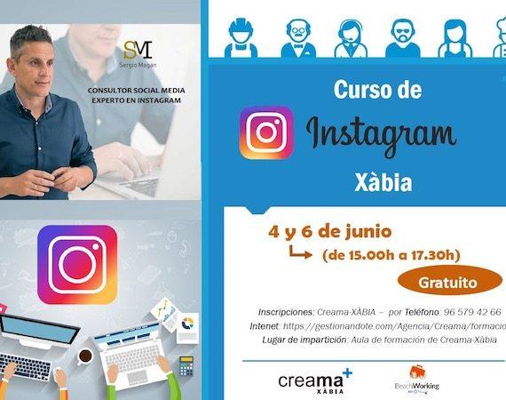 curso de instagram en Xabia organizado por Creama